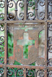 Rusted iron gate Royalty Free Stock Image