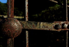 Rusted Iron Gate Stock Image