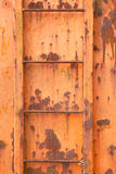 Rusted iron plate Stock Images