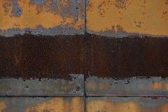 Rusted iron plate Royalty Free Stock Photos