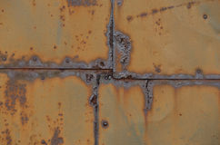 Rusted iron plate Royalty Free Stock Images