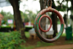 Rusted Iron Ring Stock Photo
