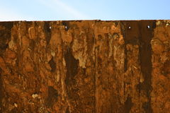 Rusted iron sheet. Close up of rusted iron sheet Royalty Free Stock Photos