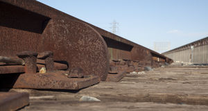 Rusted Train Track Stock Photo