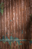 Rusted iron wall with brown paint Royalty Free Stock Photos