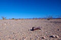 Rusted kann in der Wüste Stockfoto