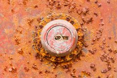 Rusted key hole Stock Photos