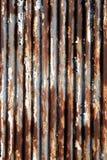 Rusted korrugerade belägger med metall Royaltyfri Fotografi