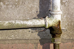 Rusted and Leaking Household Water Pipe Royalty Free Stock Photography