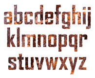 Rusted letters royalty free illustration