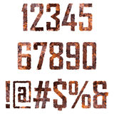 Rusted letters Stock Images