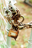 Rusted lock and chain Stock Image