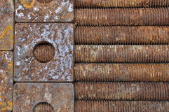Rusted long bolts and washer Royalty Free Stock Photos
