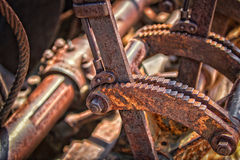 Rusted machinery. Closeup of rusted levers and machinery Royalty Free Stock Photography