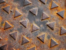 Rusted Manhole Cover Royalty Free Stock Images