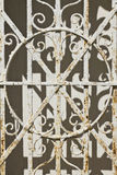 Rusted Mausoleum Gate. Rusted and Worn Gate Guarding a 19th Century Mausoleum stock image