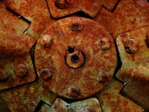 Rusted mechanical background Stock Photos