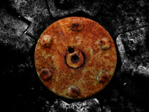 Rusted mechanical background. Old grungy rusted mechanical background Royalty Free Stock Images