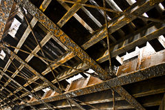 Rusted Metal. A close up view of rusted steel beams Royalty Free Stock Photography