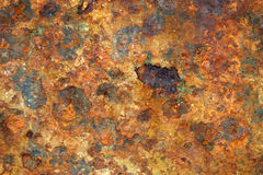 Rusted Metal. Background texture from slab of old rusted metal Royalty Free Stock Photography