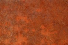 Rusted Metal Background Red Orange. Vintage Rustic Grunge Steel Tin Distressed Old royalty free stock image