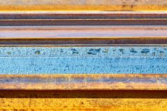 Rusted metal background with stripes royalty free stock images