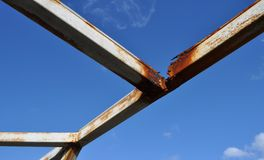 Rusted Metal Beams Royalty Free Stock Images