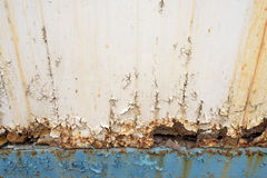 Rusted Metal Blue Girder and Flaking Paint Royalty Free Stock Photo