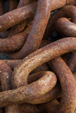 Rusted Metal Chains Stock Image