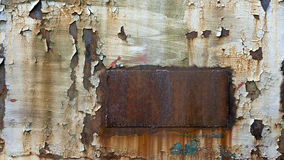 Rusted metal with chipped paint. Chipped paint over rusty metal Stock Photos