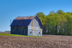 Rusted Metal Farm Shed Royalty Free Stock Image