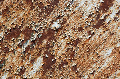 Rusted metal and flaky paint Stock Photo