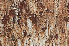 Rusted metal and flaky paint Stock Image
