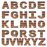 Rusted metal font Stock Images