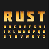 Rusted metal font design Stock Photos
