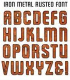 Rusted Metal Font royalty free illustration