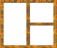 Rusted Metal Grunge Picture Frame - Empty Stock Photo