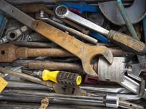 Rusted metal hand tools Royalty Free Stock Image