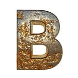 Rusted metal letter B. Rusted metal letter, 3d Rendering vector illustration
