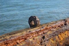 Rusted metal loop Stock Photos