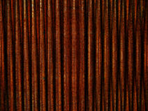 Rusted Metal Pattern. Detail of rusted corrugated steel creating a grunge industrial background Royalty Free Stock Photography