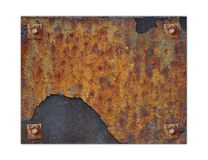 Rusted Metal Plate stock photo