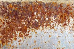 Rusted metal plate. A rusted metal plate background royalty free stock photography