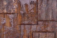 Rusted metal plate royalty free stock photography
