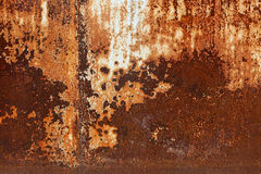 Rusted metal plates - grungy industrial construction background Royalty Free Stock Photography