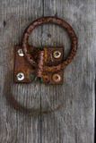 Rusted metal ring on the dock Royalty Free Stock Photo