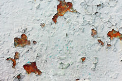 Rusted metal texture. Texture of the old dilapidated rusty metal Stock Image