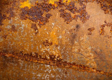 Rusted metal. Texture with old paint stains Stock Photography