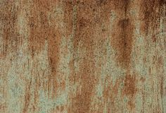 Rusted metal texture. Rust on old wall background royalty free stock image