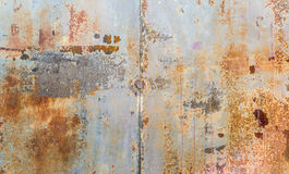 Rusted Metal Wall Background. Closeup of rusted metal wall background. Photographed June 28th 2014 Stock Images